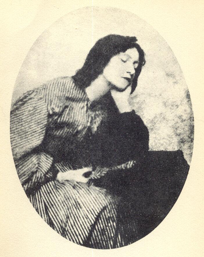 Portrait of Elizabeth Siddall. Image via Wikimedia Commons.