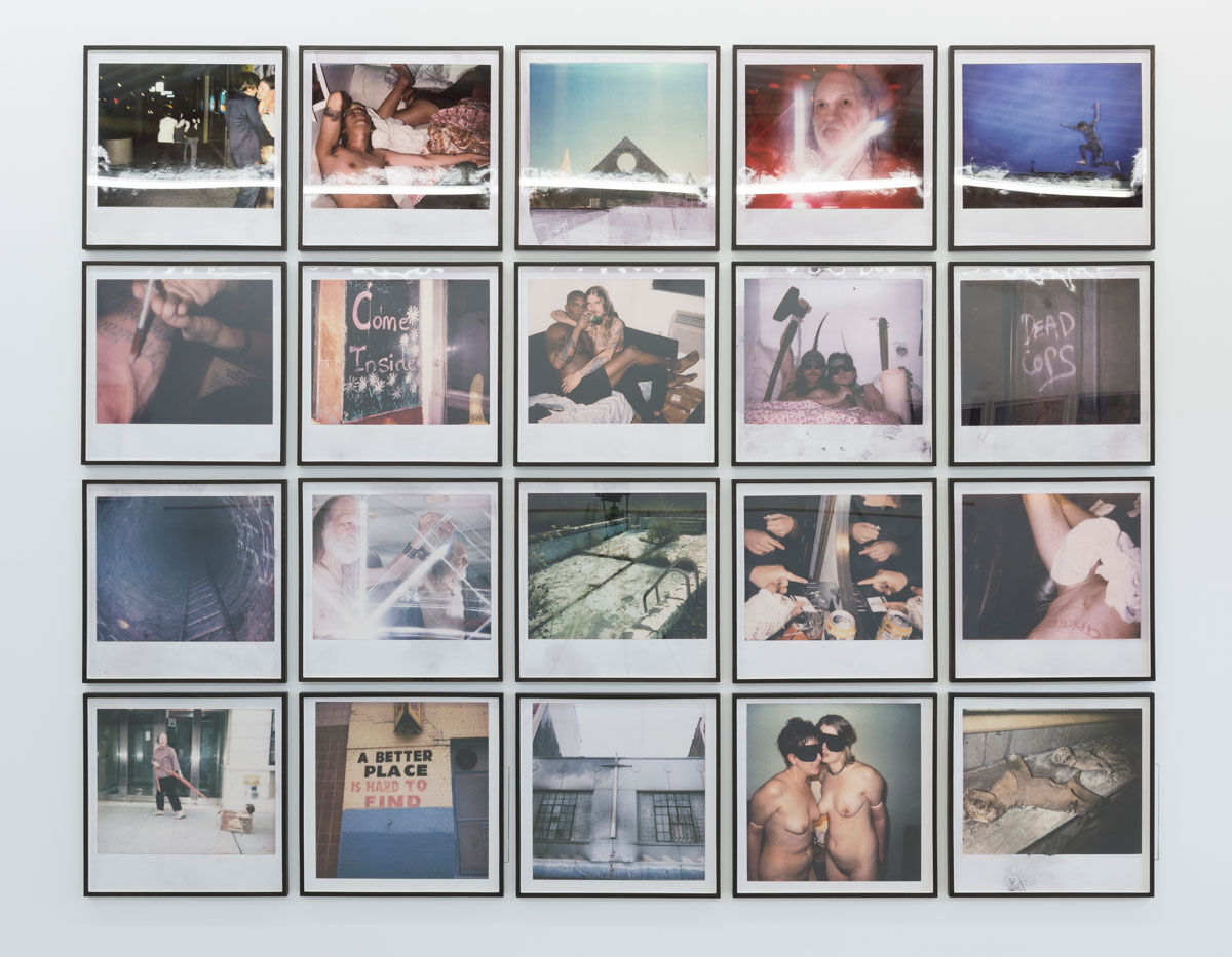 Installation view of Polaroids by Dash Snow. Photo courtesy of Annka Kultys Gallery.