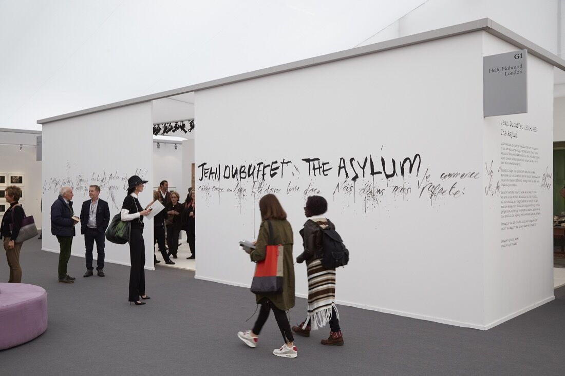 Helly Nahmad Gallery's booth at Frieze London, 2015. Photo by Benjamin Westoby for Artsy.