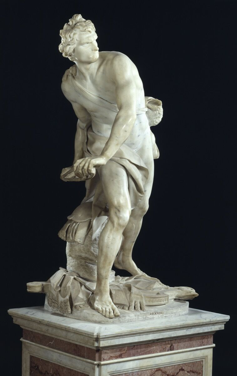 Gian Lorenzo Bernini, David, 1623. Courtesy of Galleria Borghese.