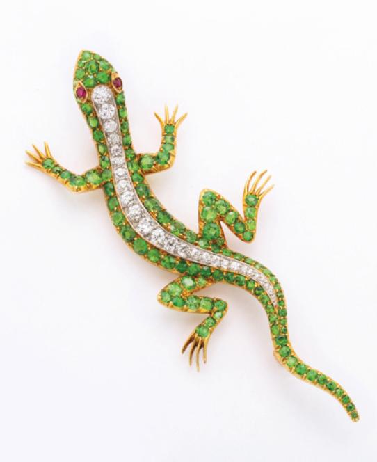 Victorian Salamander, Brooch. IMAGE COURTESY OF A LA VIEILLE RUSSIE.