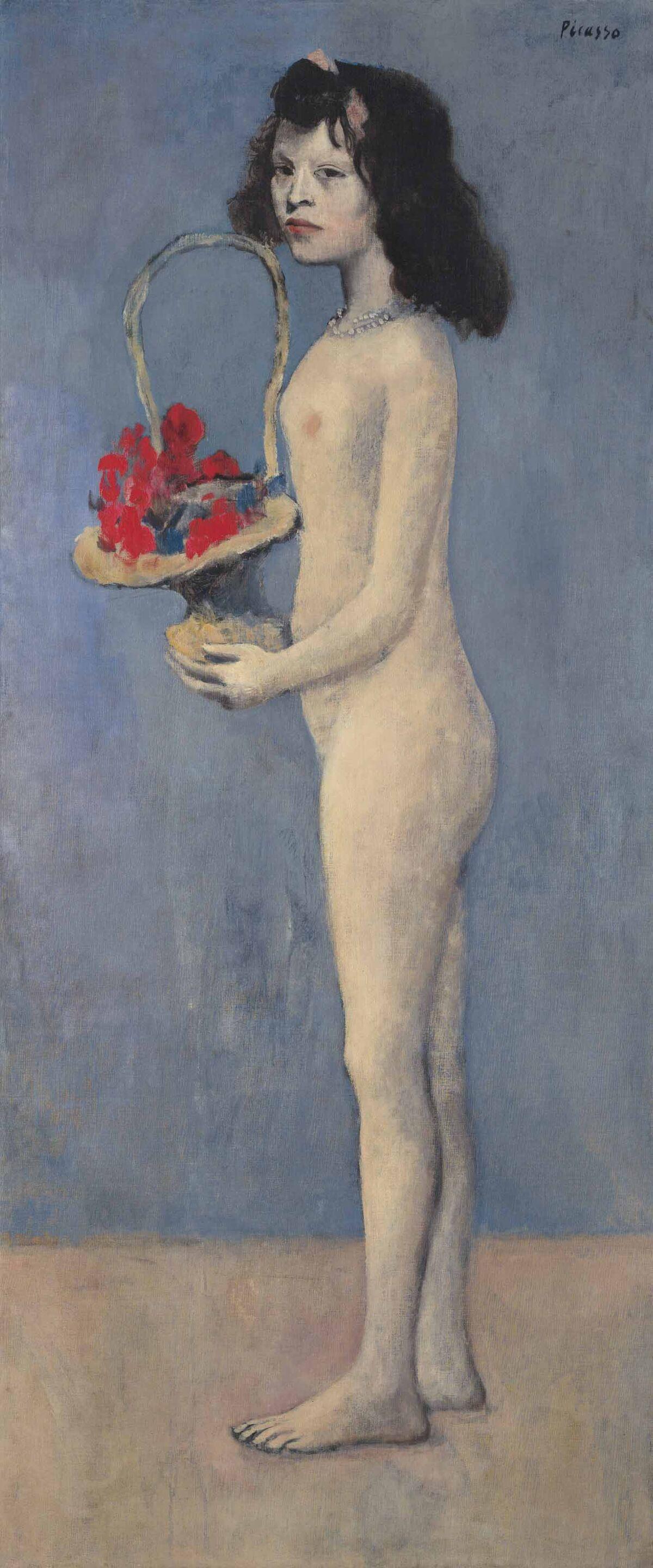 Pablo Picasso, Fillette à la corbeille fleurie, 1905. Courtesy of Christie's.