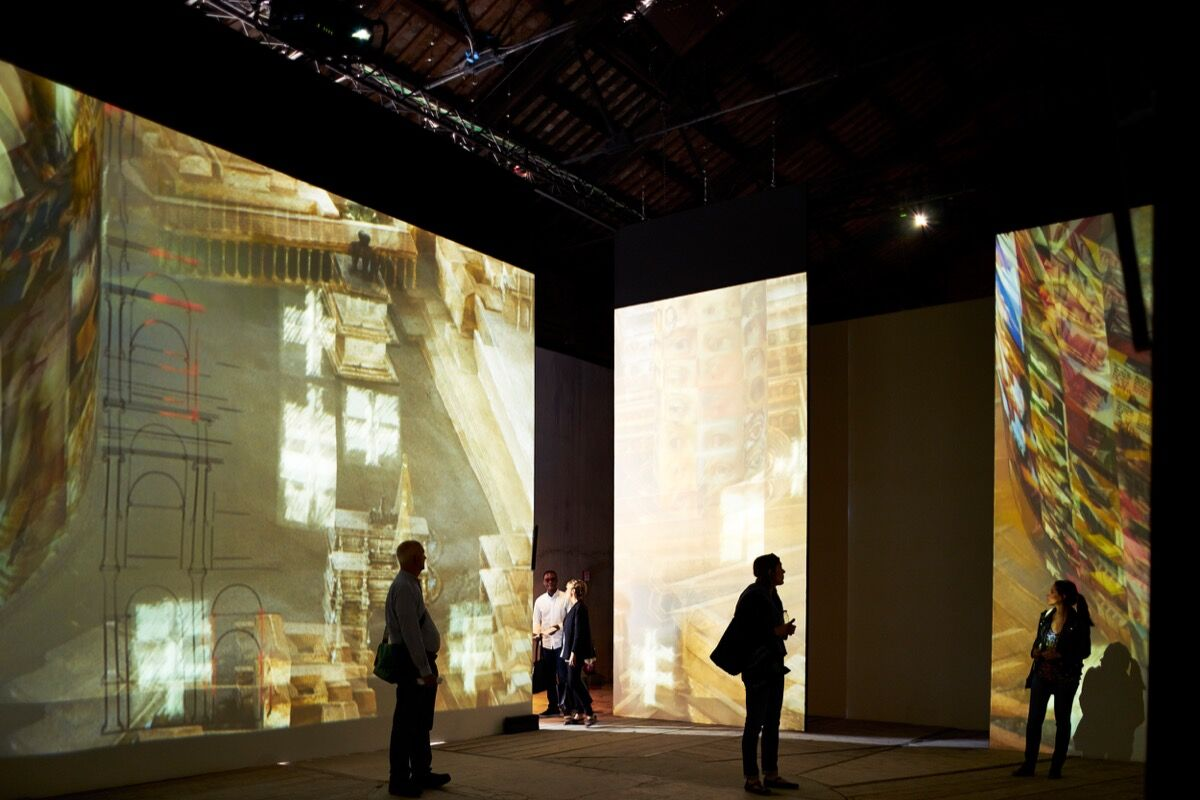 Installation view of the Italian Pavilion at the 56th Venice Biennale. Photo by Alex John Beck for Artsy.