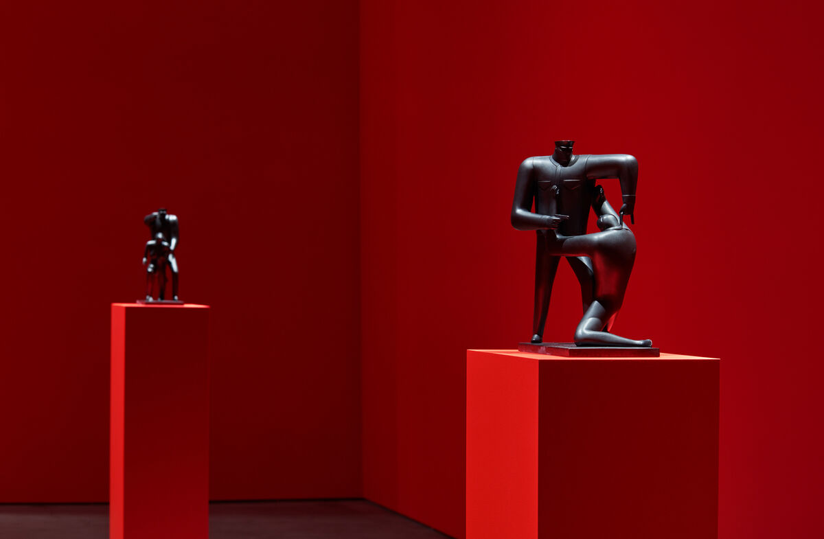 """Installation view of Cleon Peterson, Submission 2, 2018, """"Cleon Peterson: Blood and Soil"""" at Over the Influence, Los Angeles, 2018. Photo by Flying Studio. Courtesy of the artist and Over the Influence."""
