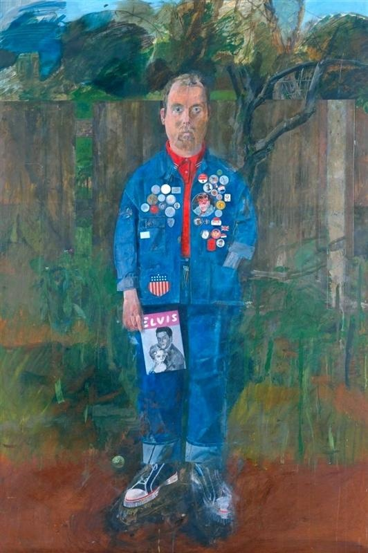 Peter Blake, Self-Portrait with Badges, 1961. Image via Wikiart.