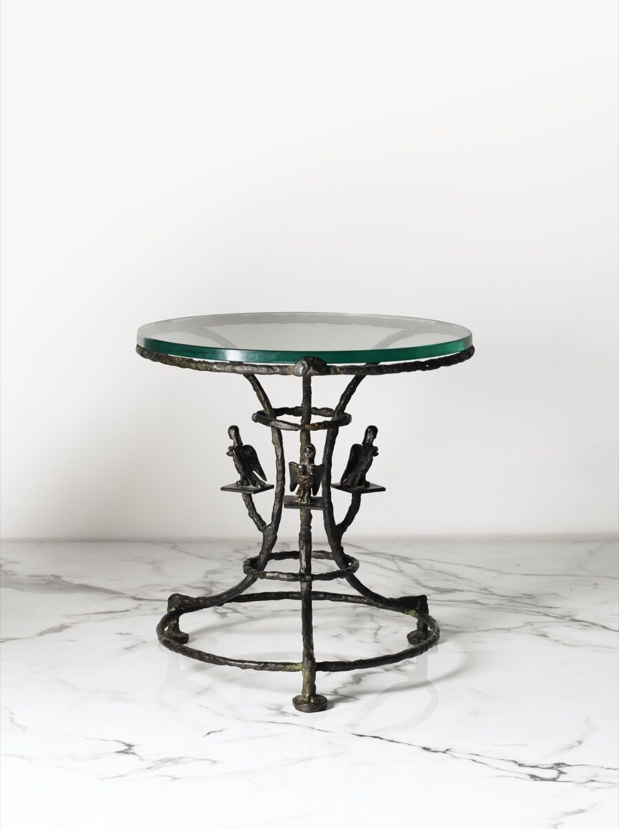 Diego Giazometti, Guéridon Aux Harpies, Designed in 1955. Image courtesy of Sotheby's – Art Digital Studio.