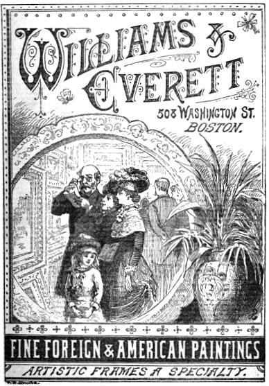Illustration for Williams & Everett gallery, 1882. Image via Via Wikimedia Commons.
