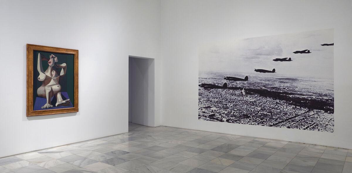 """Installation view of """"Piedad y Terror en Picasso. El camino a Guernica."""" Photo by Joaquín Cortés / Román Lores. Courtesy of Museo Nacional Centro de Arte Reina Sofía."""
