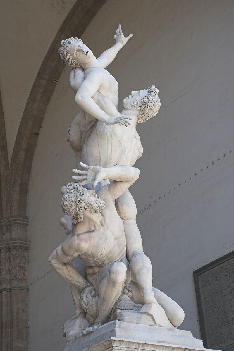 Giambologna, The Rape of the Sabine Women, 1581-83. Via Wikimedia Commons.