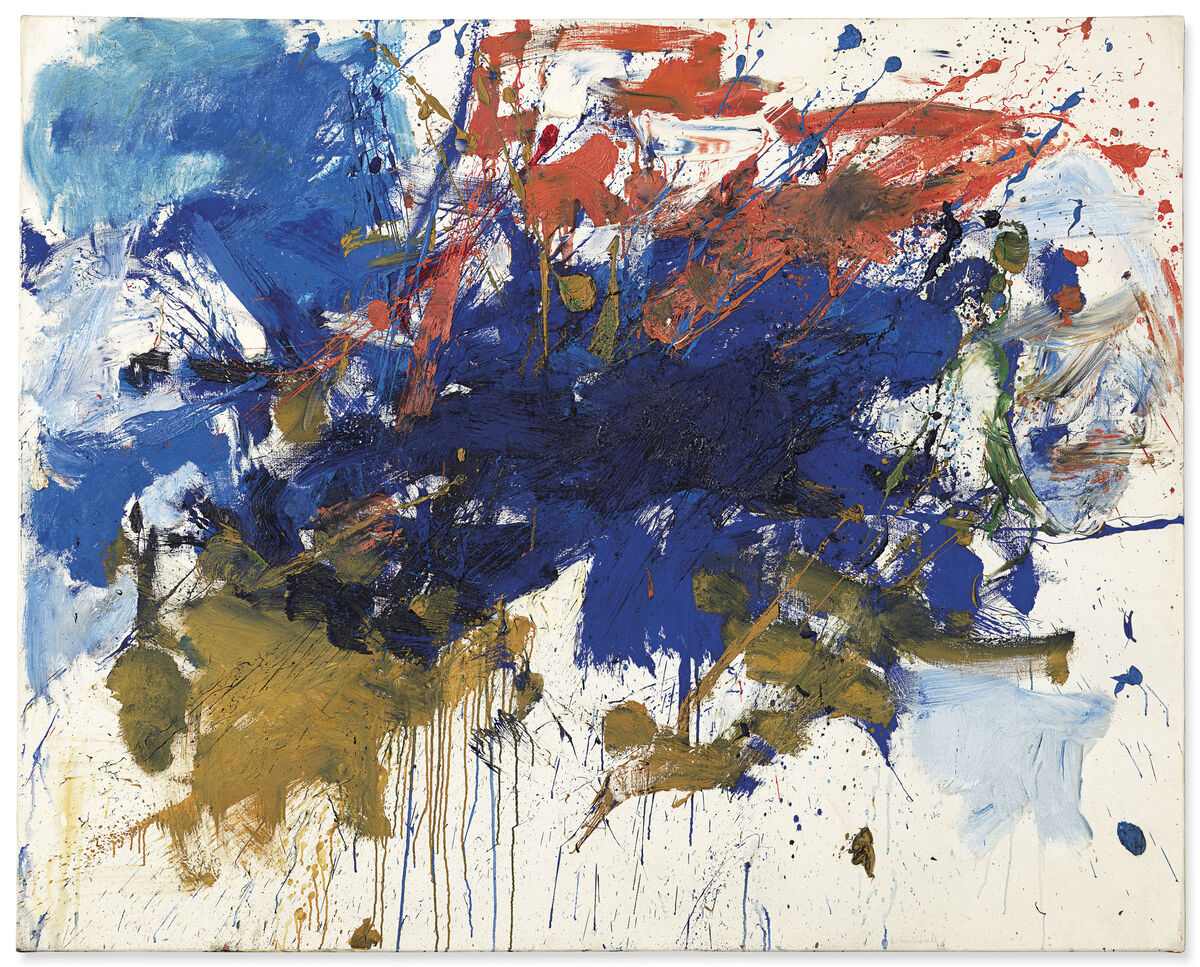 Joan Mitchell, Blue Michigan, 1961. Courtesy of Christie's Images Ltd. 2019.