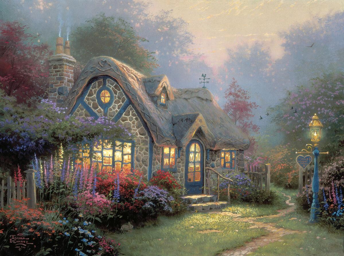 Thomas Kinkade, Candlelight Cottage, 1996. Courtesy of Thomas Kinkade Studios.