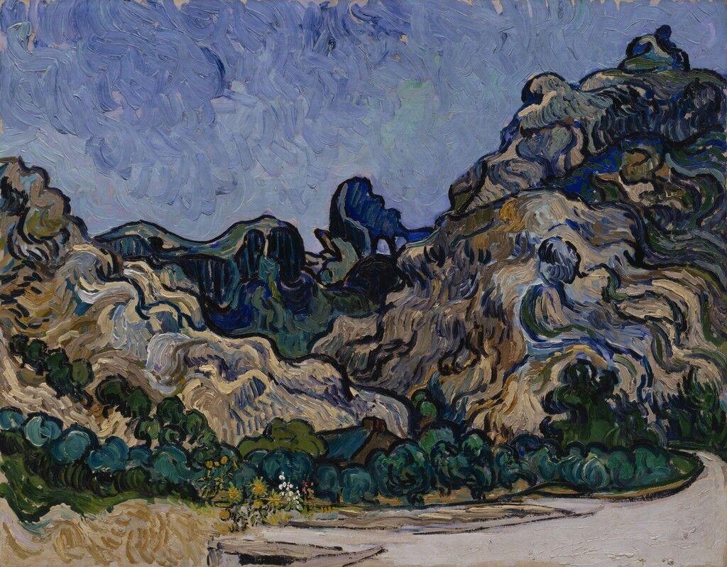 Mountains at Saint-Rémy (Montagnes à Saint-Rémy)