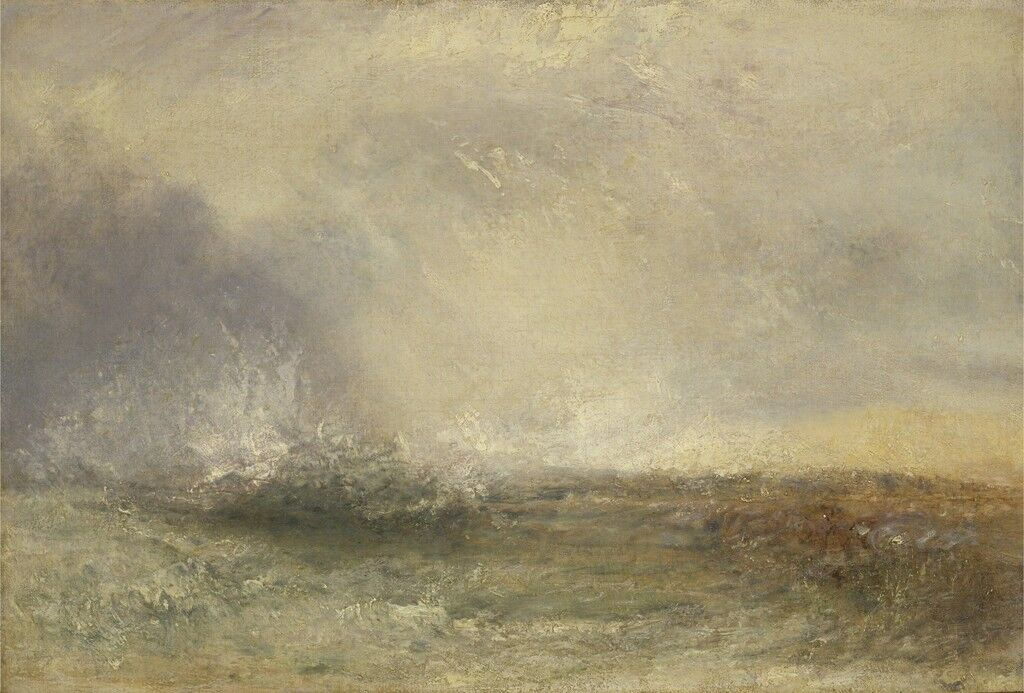 Stormy Sea Breaking on a Shore