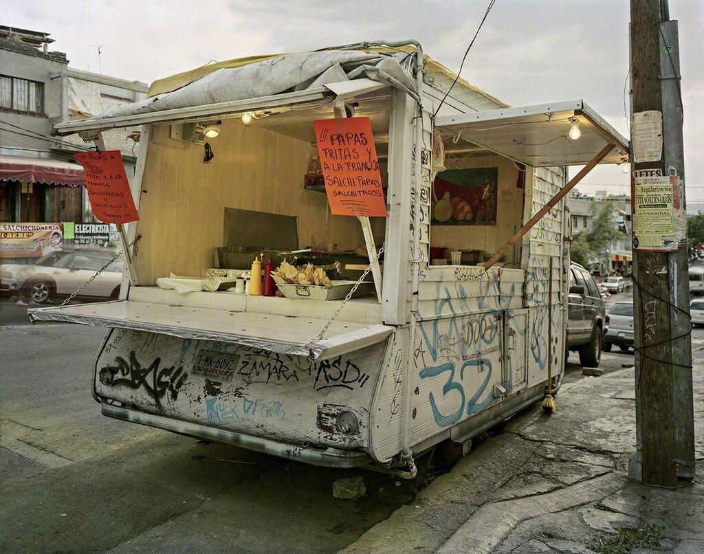 Truck Selling Salchitacos, Pefregal de Santo Domingo, Mexico City, Distrito Federal, Mexico