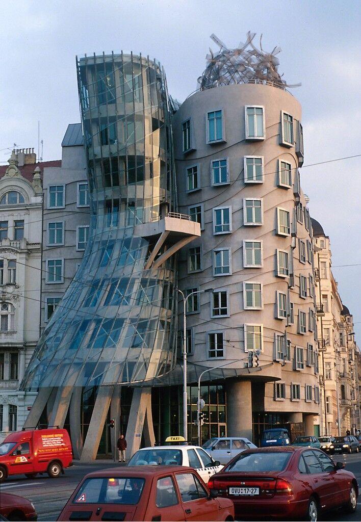 Nationale-Nederlanden Building, view from Jiráskovo Street, Prague, Czech Republic