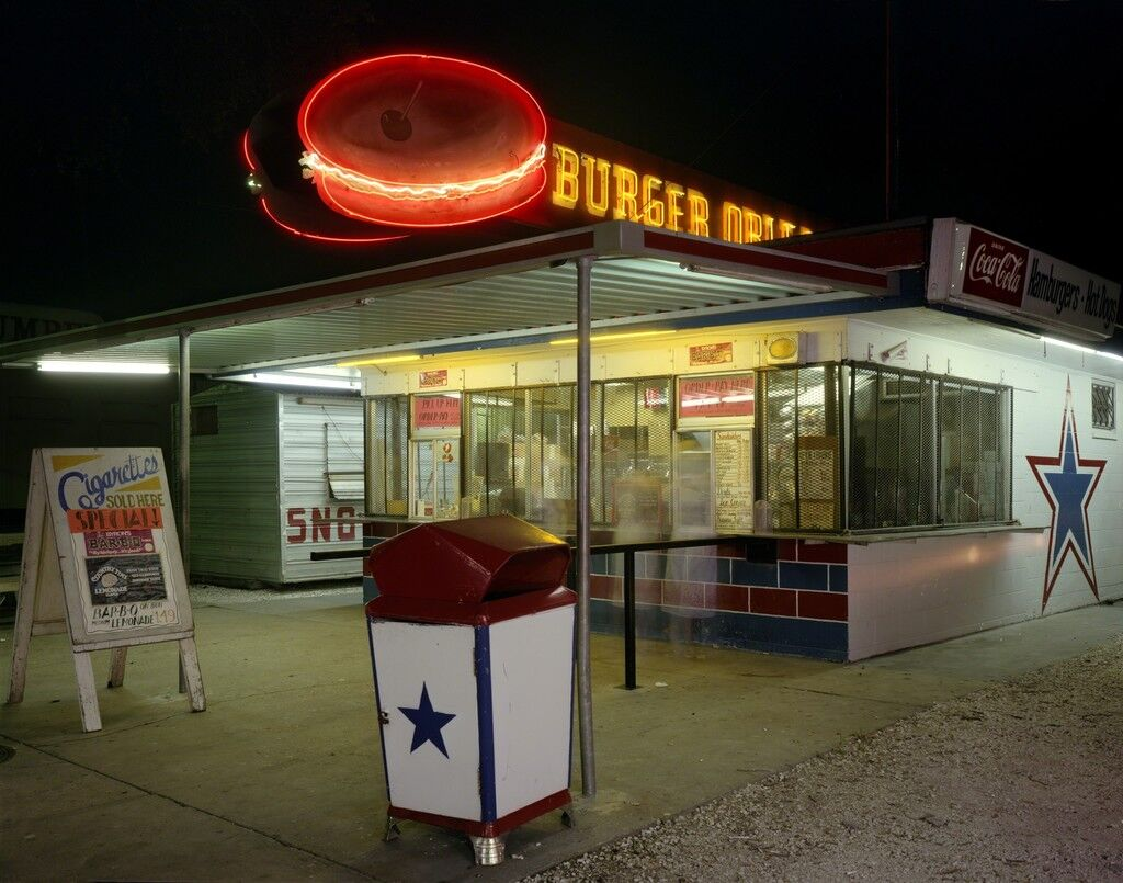 Orleans Burger Joint at Night, New Orleans, Louisiana