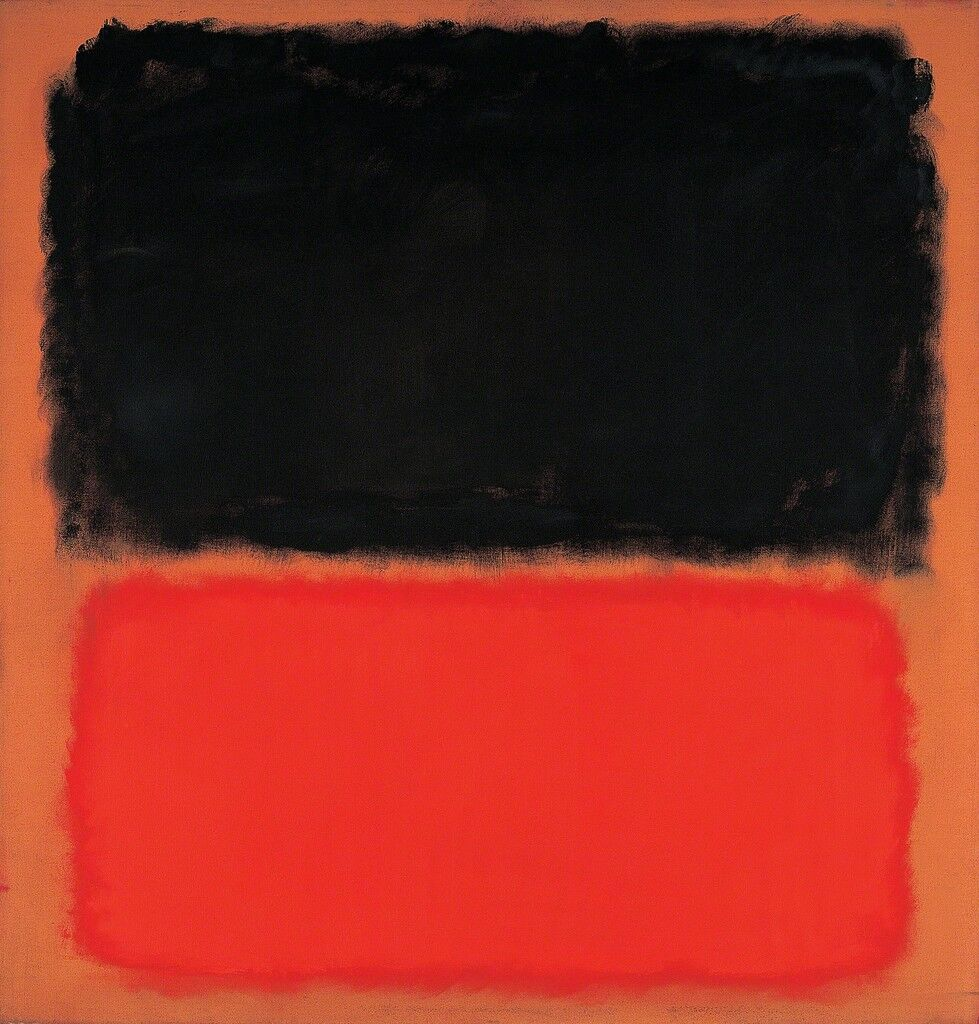 Untitled (Black and Orange on Red)