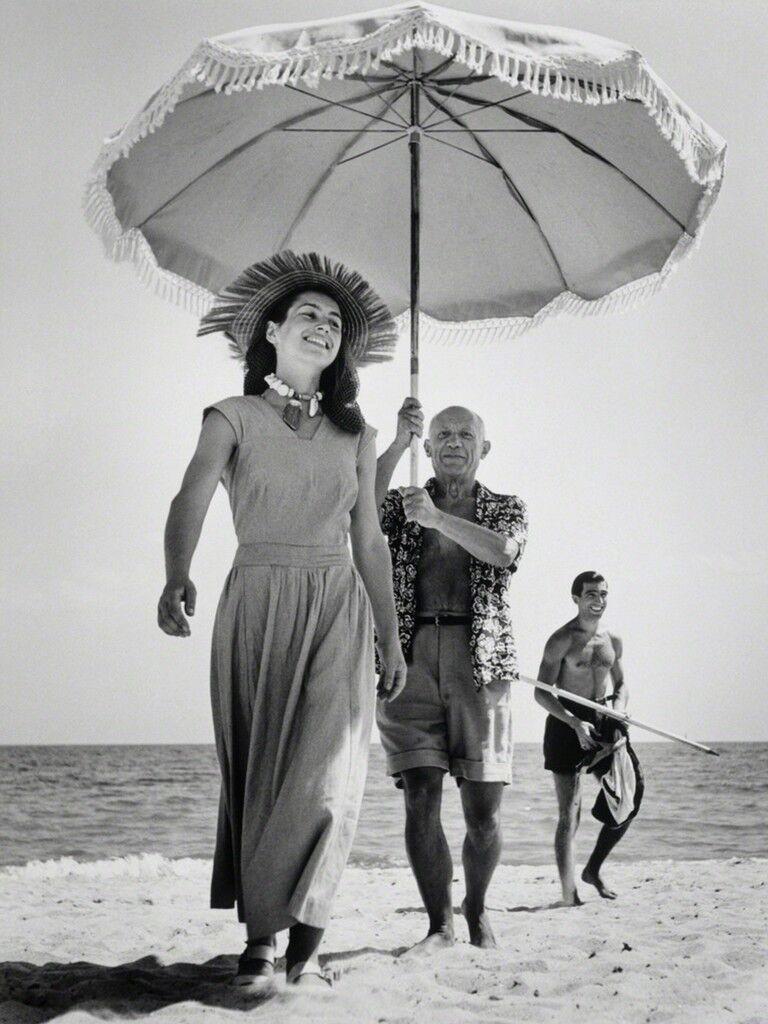 Pablo Picasso & Francoise Gilot, Golfe-Juan, France, August, 1948