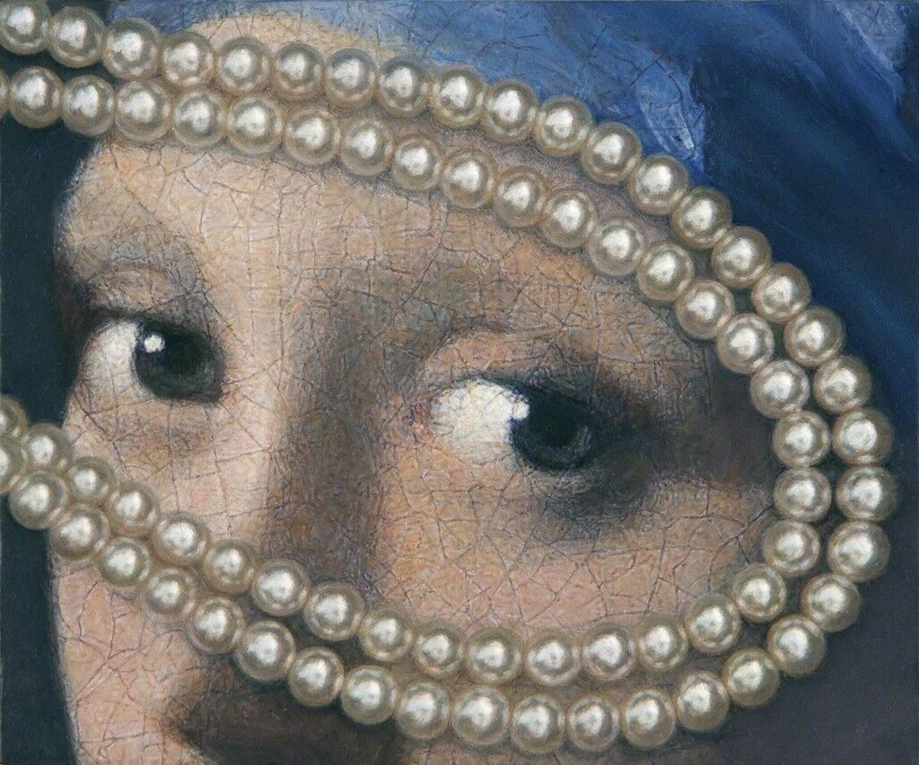 Vermeer Eyes with Pearls