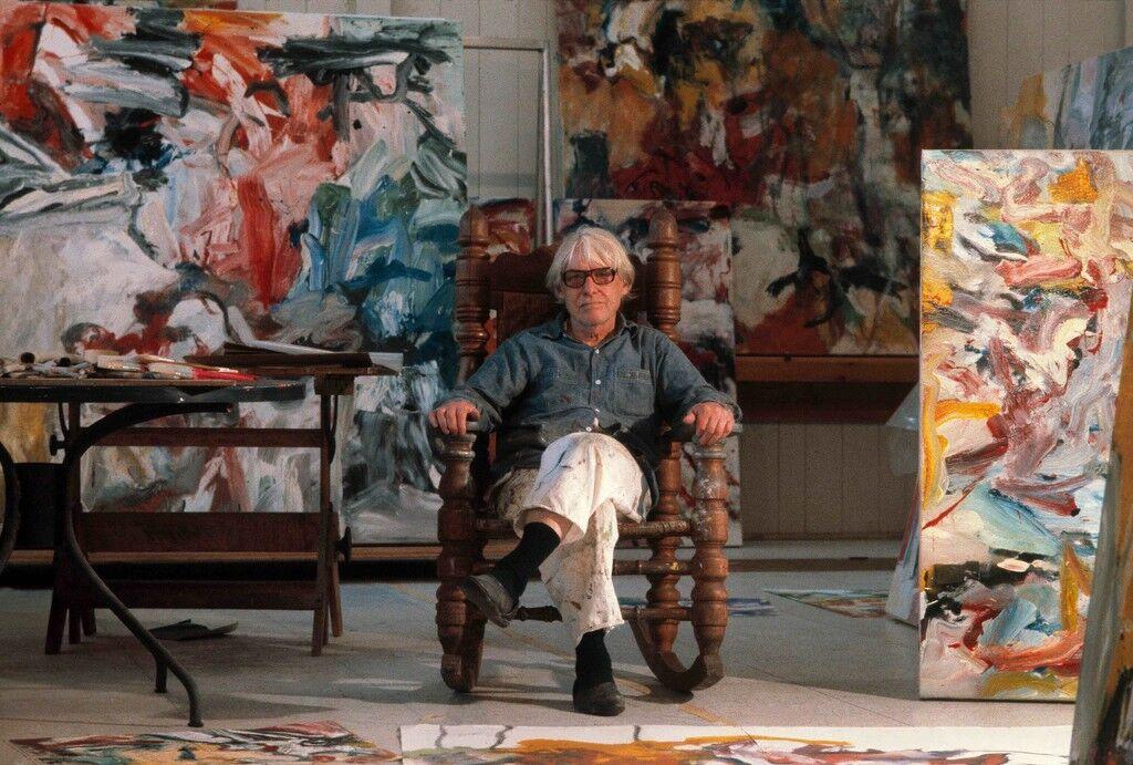 Willem De Kooning in his East Hampton studio