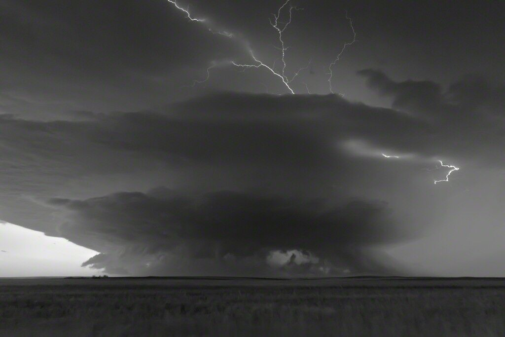 Supercell at Dusk