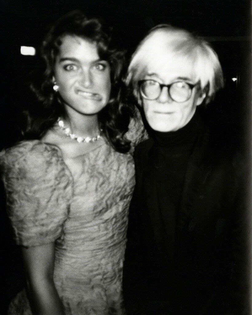 Andy Warhol, Photograph with Brooke Shields Making a Funny Face, 1985