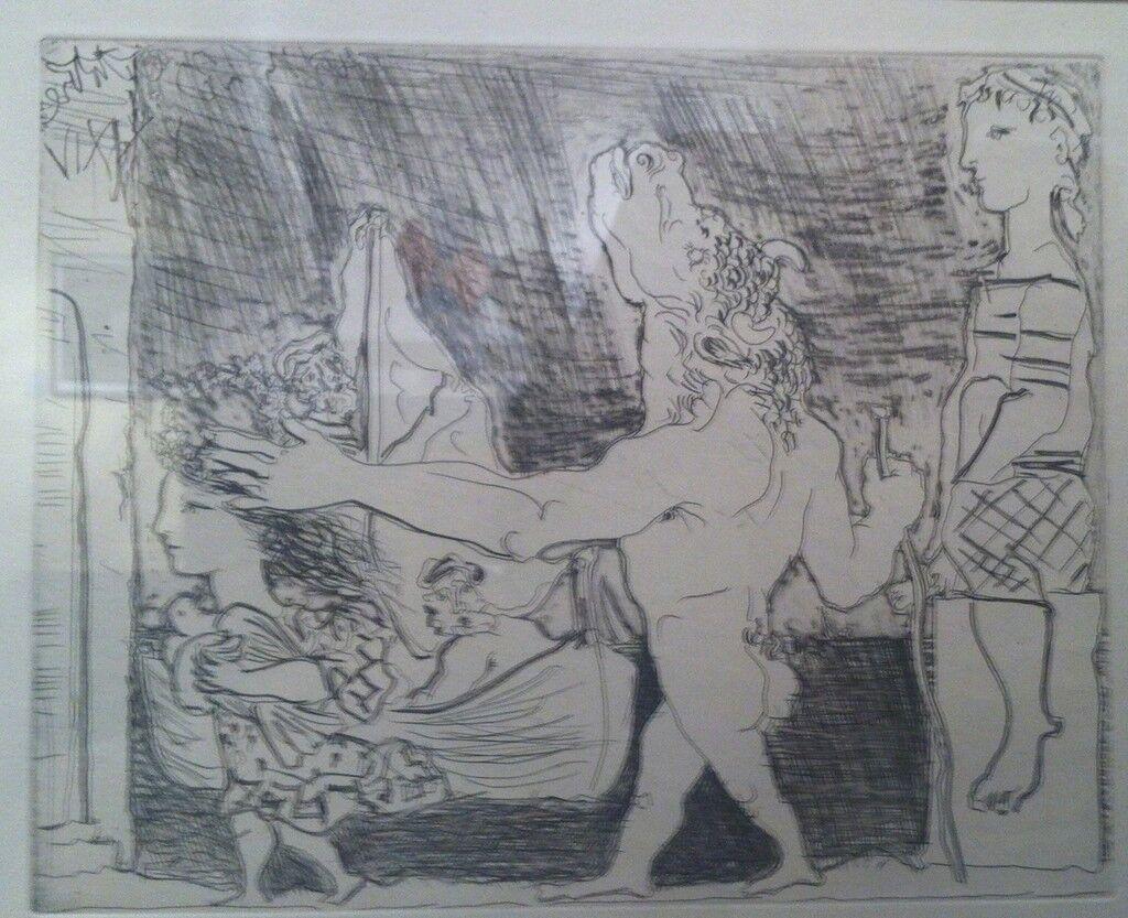 Minotaur aveugle guide par une fillete,III