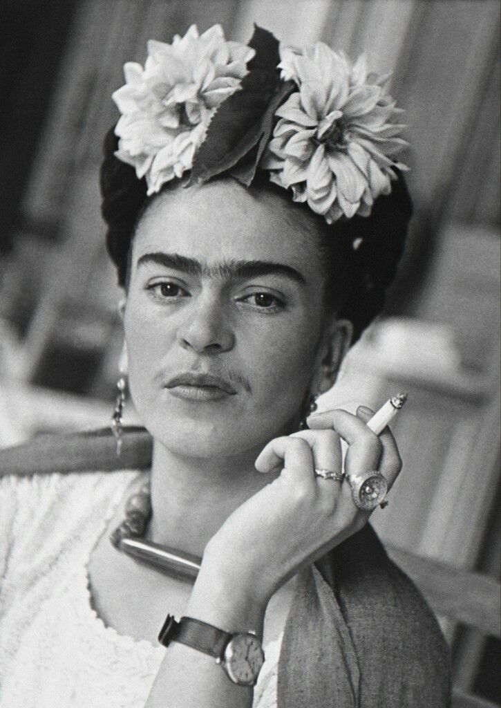 Frida With Cigarette, Coyoacan