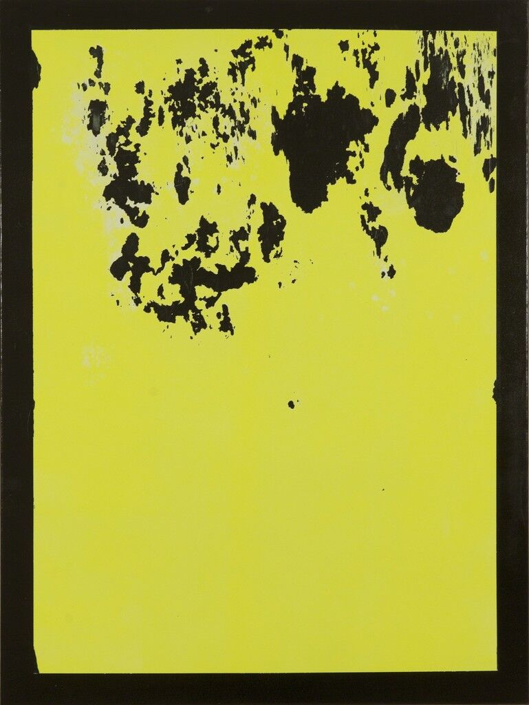 Untitled Painting, Yellow Over Black