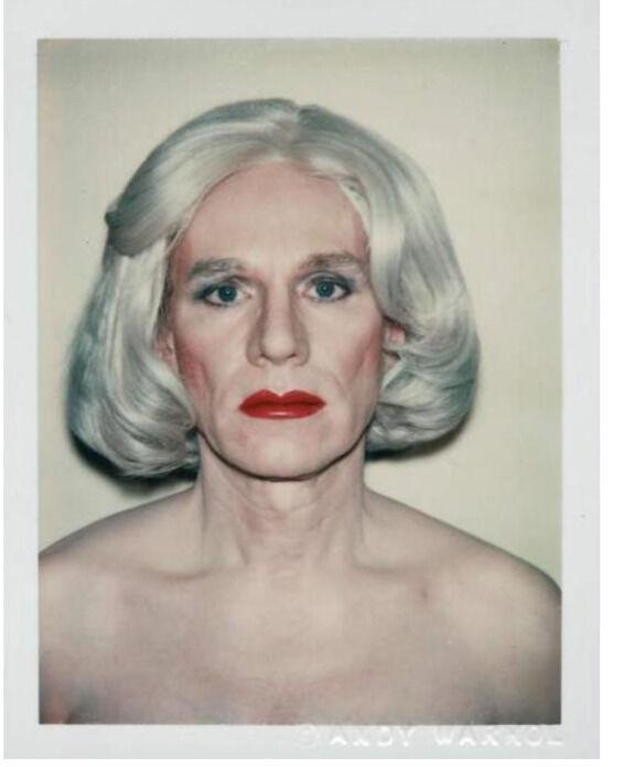 Andy Warhol Self- Portrait in Drag