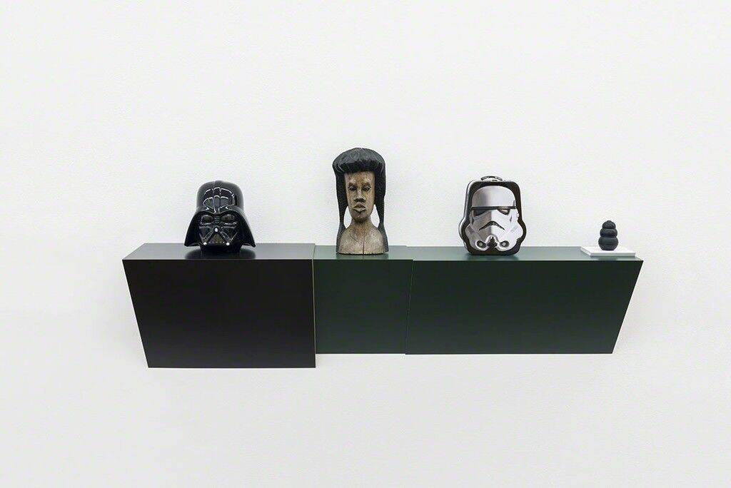 Untitled (cookie jar, Jamaican head, Stormtrooper, dog chew)