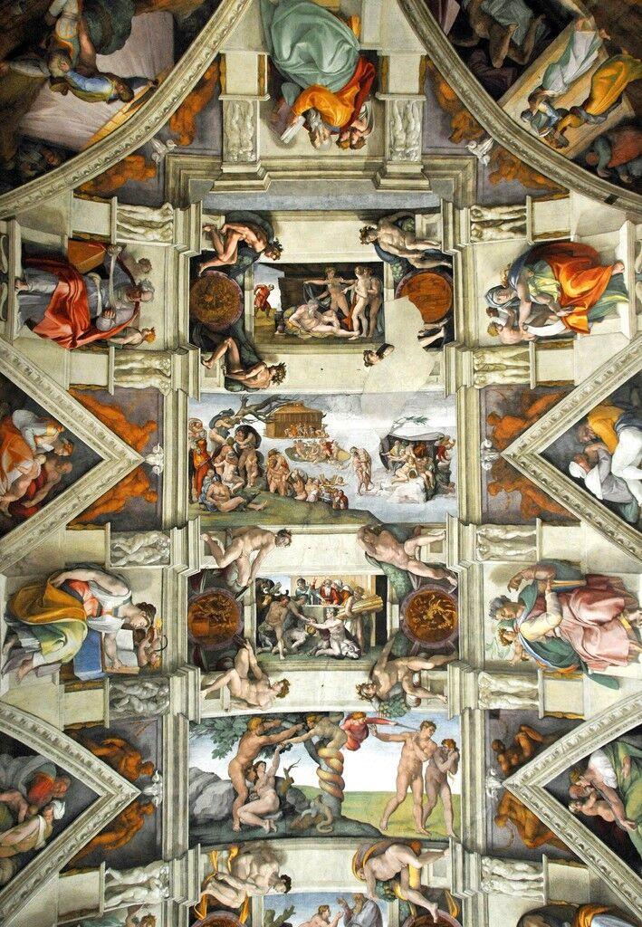 Sistine Chapel Ceiling Frescoes