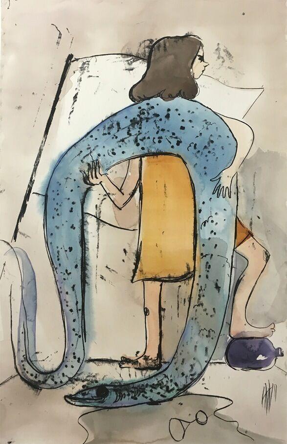 Girl with Eel