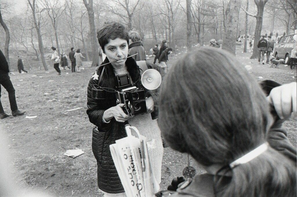 "Diane Arbus, ""Love-In"", Central Park, New York City"