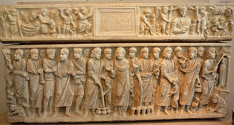 The Sarcophagus of Marcus Claudianus from San Giacomo in Settimiana