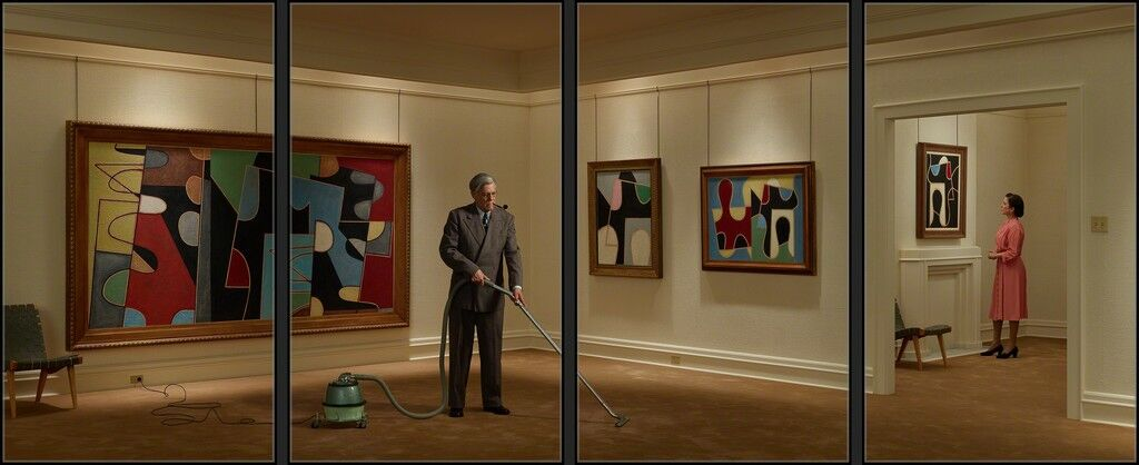 Vacuuming the Gallery, 1949