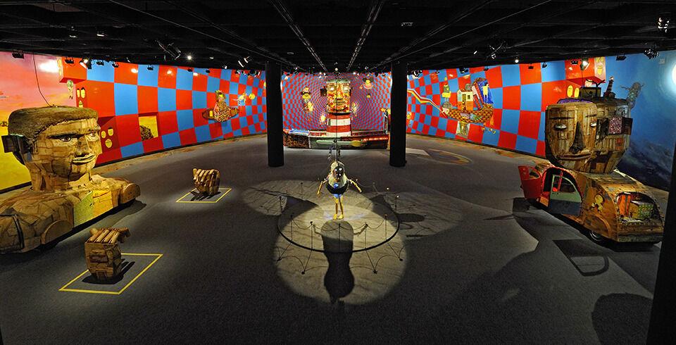 """Exposição """"Vertigem"""", Museu de Arte Brasileira – FAAP, São Paulo, Brasil."""