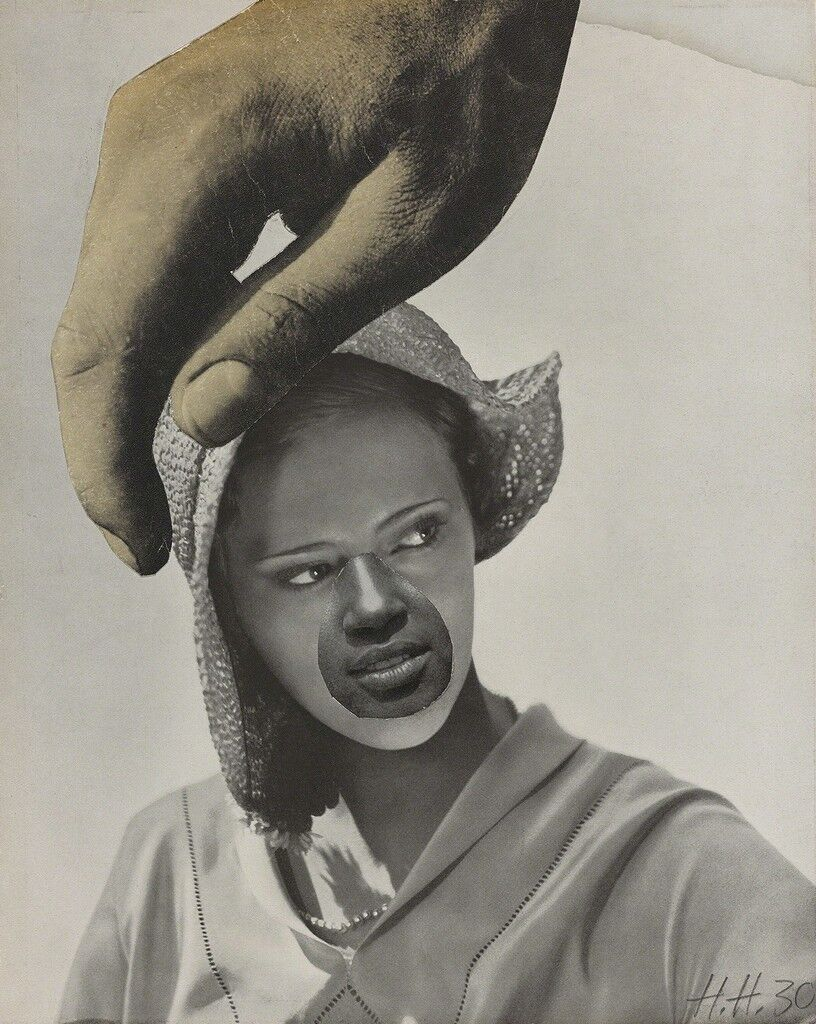 Untitled (Large Hand Over Woman's Head)