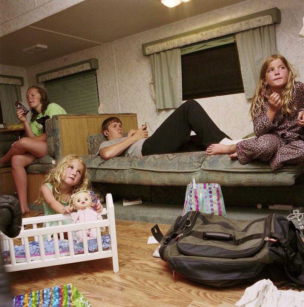 Candi and Eric's Kids in the Camper