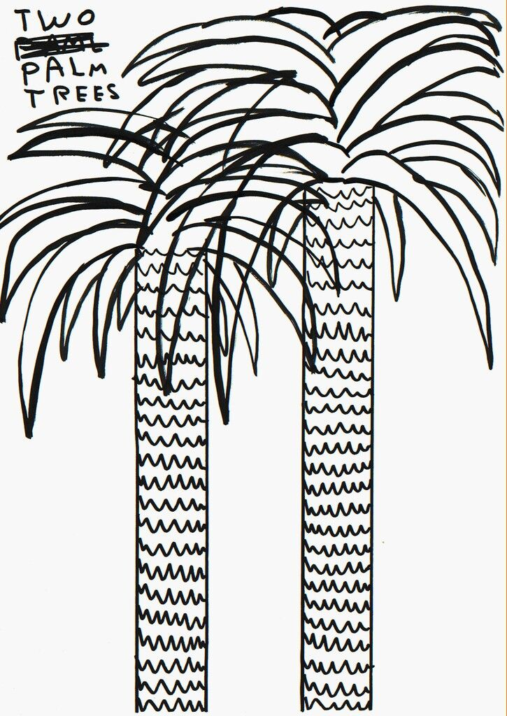 Untitled (two palm trees)