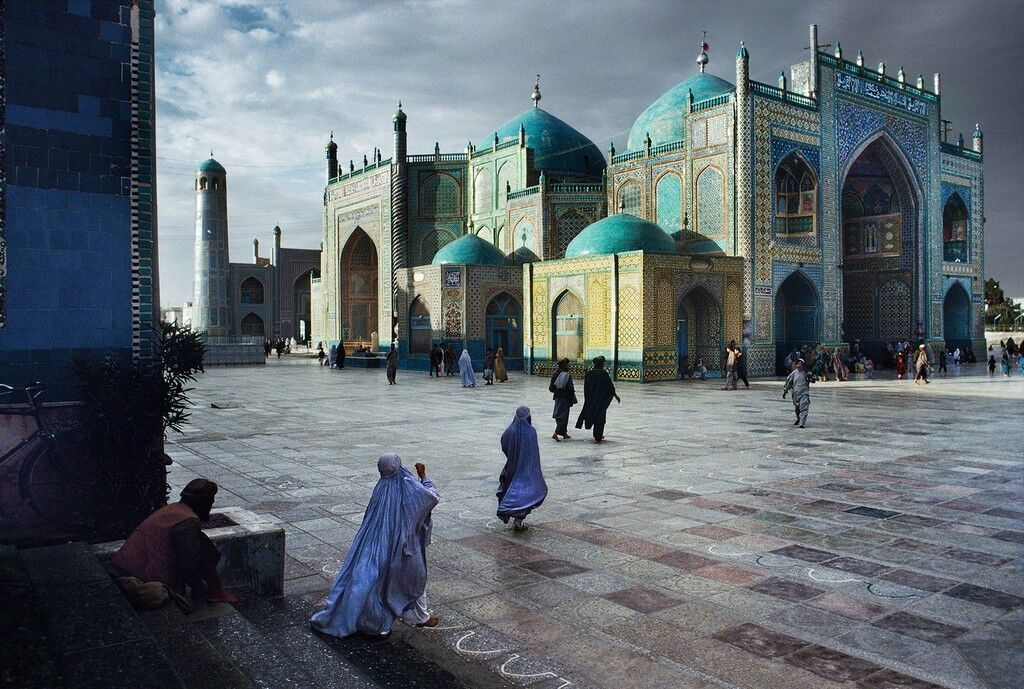 Salat at Hazrat Ali Mosque, Mazar-Sharif, Afghanistan,