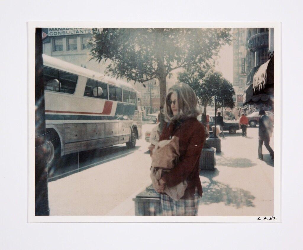 Roberta at Bus Stop