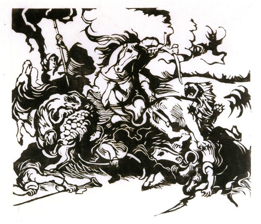 Löwenjagd nach Delacroix