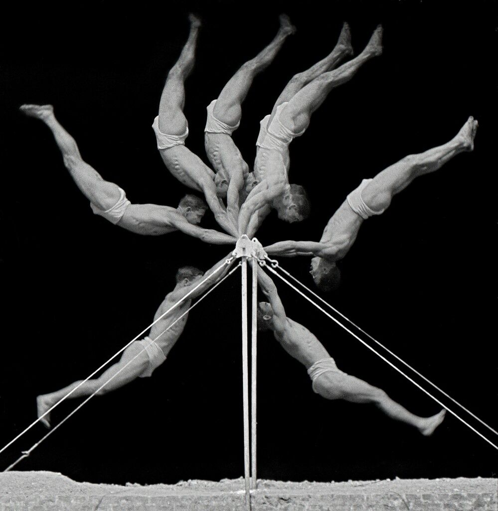 Chronophotograph of an Exercise on the Horizontal Bar