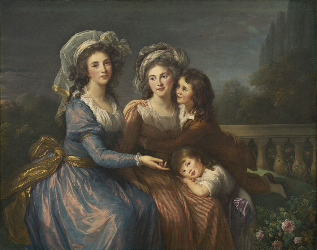 The Marquise de Pezay, and the Marquise de Rougé with Her Sons Alexis and Adrien