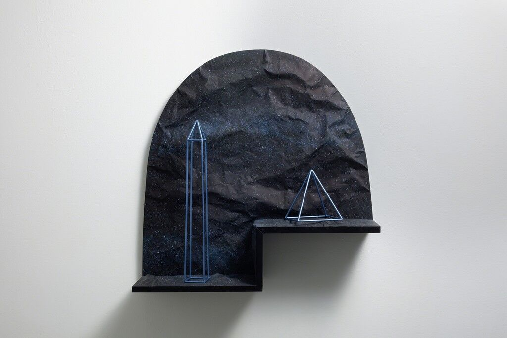 Untitled (Obelisk and Pyramid in Space)