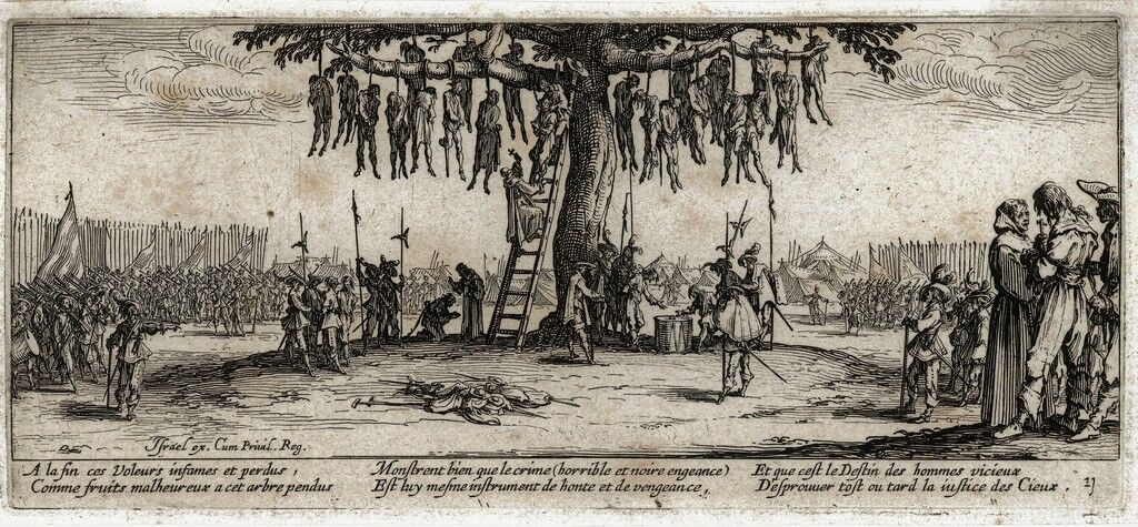 The hanged (No.11) from the series Les Miseres et les Malheurs de la Guerre (The Miseries of War)