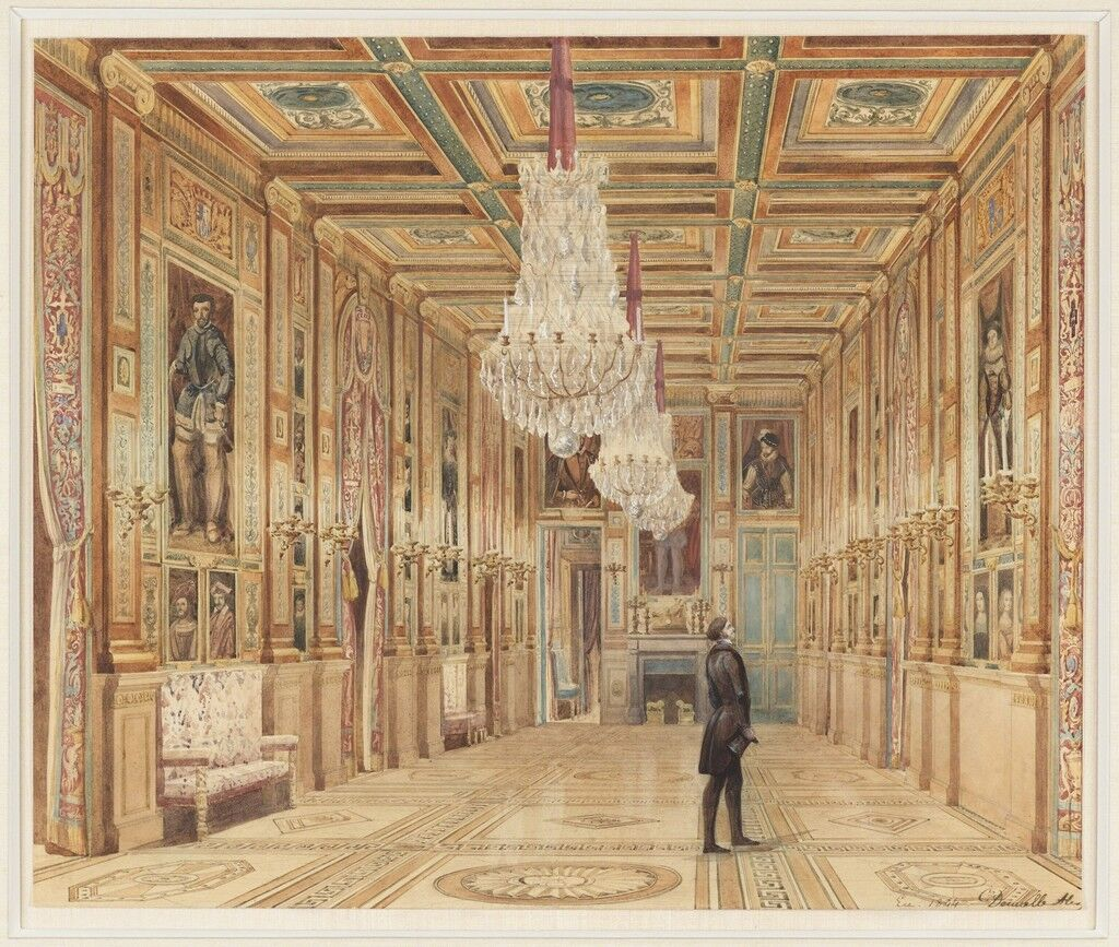View of the Picture Gallery at the Château d'Eu (Vue de la Galerie au Château d'Eu)