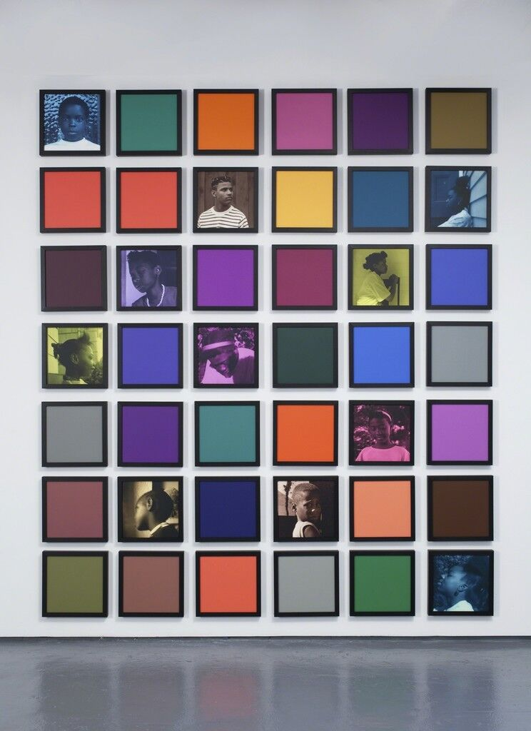 Untitled (Colored People Grid)
