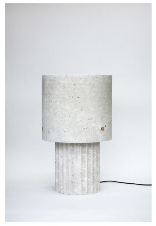 Medium Portland Limestone Lamp